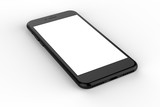 Black smartphones with blank screen, isolated on white background. - 120132844
