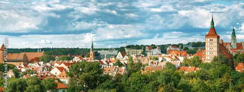 Fototapeta samoprzylepna Top view of the town of Olsztyn