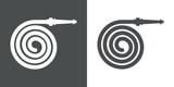 Icono plano manguera espiral gris