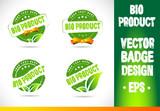 Bio product Badge Vector