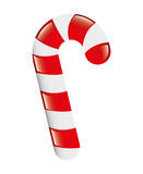 sweet candy cane isolated icon vector illustration design