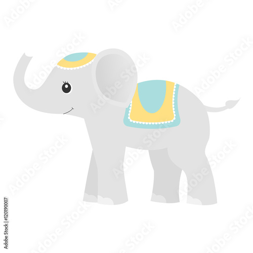 Plakát, Obraz Elephant.Colored baby toy.
