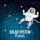 astronaut cartoon space isolated vector illustration eps 10 - 120193050