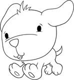 Cute Puppy Dog Doodle Vector Illustration Art