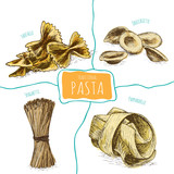 Pasta set illustration.