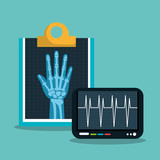 x ray digital medical healthcare isolated vector illustration eps 10
