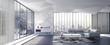 Model interior design of living room (3D Render)