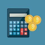 icon calculator coin invoice design vector illustration eps 10