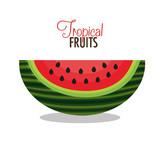 icon watermelon slice fruit design vector illustration eps 10