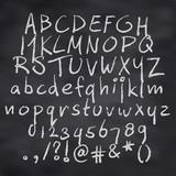 Vector illustration of alphabet in chalk - 120233423