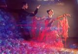 Fototapety  Professional ballroom dance couple preform an exhibition dance