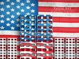 Illustration of U.S.A Flag for Patriot Day