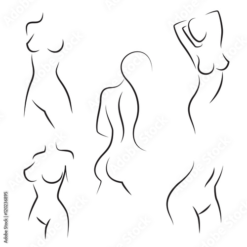 Nude woman silhouettes vector © Neyro