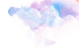 Watercolor illustration of sky with cloud. - 120237854