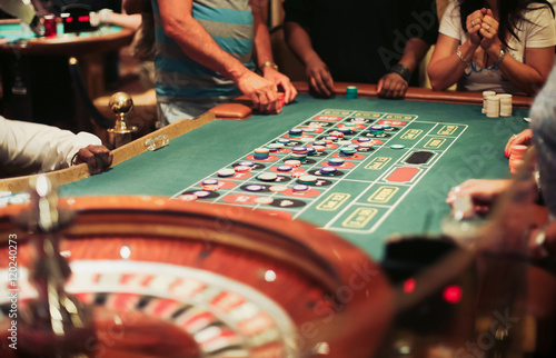 Casino roulette playing плакат