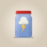 lightning in a jar illustration