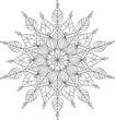 Vector ornate mandala illustration for coloring book