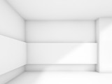 Abstract contemporary white empty hall
