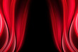 Red Curtain Theater Abstract Background