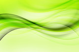 Green Wave Design Abstract Background - 120277855