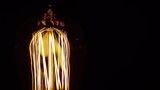 Filament Light Bulb Brightens and Dims, Macro