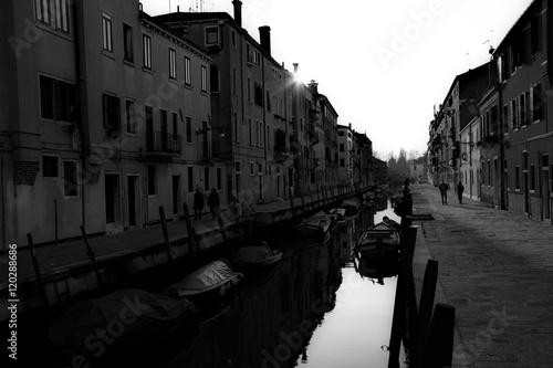 Venise en noir et blanc Poster