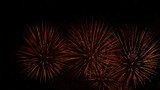 Fantastic Fireworks Display Show In Night Sky