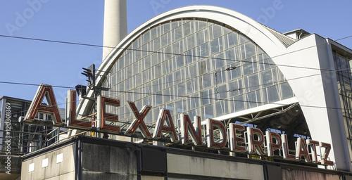 Naklejka Alexanderplatz train station in Berlin city center