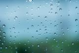 rain in glass
