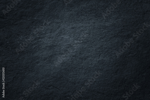 Dark grey black slate background or natural stone texture. - 120313610