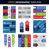 Colorful Set of Infographic Templates - Banners, Charts, Arrows