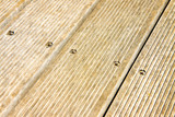 Floor wooden slats for outdoor use
