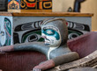 Sculpture of Totem in Inuit Canoe