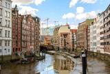 canals from hamburg city, germany