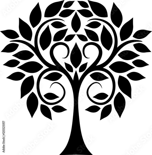 Curled tree
