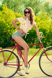 lady on bicycle