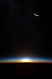 Earth sunrise through atmoshere