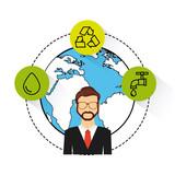 eco friendly set flat icons vector illustration design