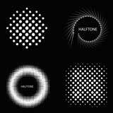Halftone circle effect set