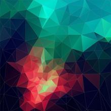 Color Abstrakt vektor mosaik. triangel geometrisk bakgrund