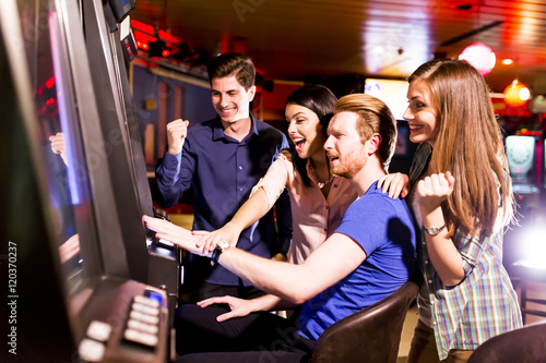 Plakat People in casino