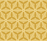 geometric pattern of cube. Seamless vector illustration. Gold color