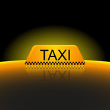 Taxi lights background, cab, vector illustration