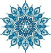 Vector decorative blue mandala illustration - 120388037