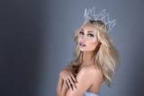 Fototapety Beautiful girl with crown