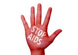 stop virus aids written on woman hand