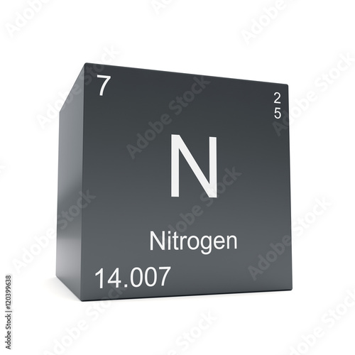Nitrogen Chemical Element Symbol From The Periodic Table Displayed