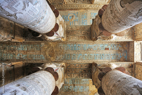 Hypostyle Hall Dendera Temple Egypt