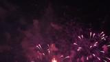 Fireworks at night. 4K long shot