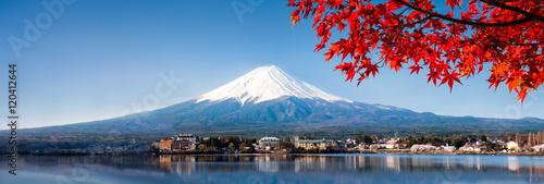 Berg Fuji Panorama im Herbst